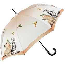 VON LILIENFELD Paraguas Automática Mujer Motivo Perro Gato Vida de Animales