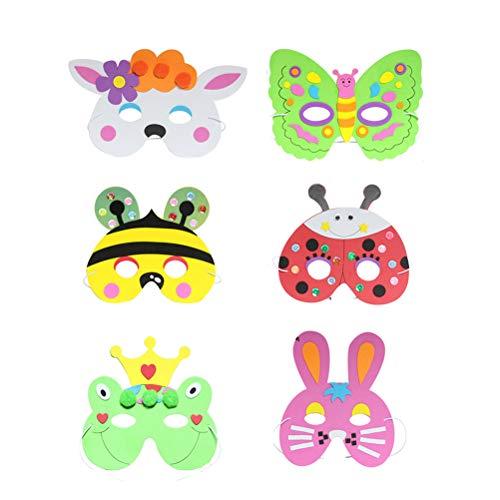 Niedliche Cartoon Charakter Kostüm - Toyandona EVA-Cartoon-Maske für Kaninchen, Frosch, Wolf,