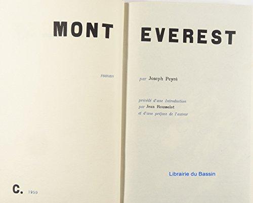Mont everest. roman.