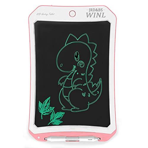 JRD&BS WINL 8.5 Zoll Elektronik-Reißbrett FÜR Kinder,Tragbare Wiederverwendbare,4-12 Jahre Alter Junge Mädchen Geschenk, Zeichenspielzeug FÜR Teenager-Mädchen,Graffiti-Board,Message Board, Weiß Rosa D