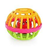 HxOqb Babyspielzeug Früherziehung Kinder-Lernspielzeug Fitness Soft Rubber Ball Mehrfarbige Glocke Babyspielzeug,Green