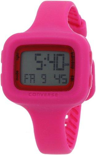 Converse Digi Sil – Reloj (Reloj de pulsera, Femenino, Silicona, Acero inoxidable, Rosa, Silicona, Rosa)