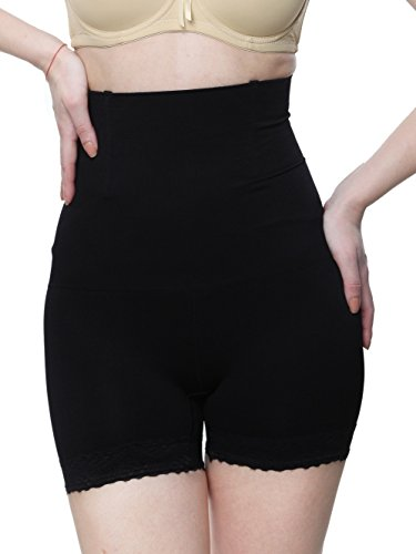 Glus Women Waist To Thigh Seamless Shape Wear With Butt Shaping And Lift , Size - Medium (Black, Medium)