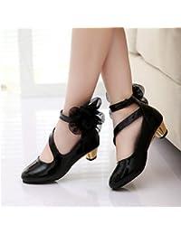 Wuyulunbi@ Las Niñas Zapatilla Zapatos Zapatos De Vestir Zapatos Cristales Princess Wedding Dress //Performanceheelssandalslatin Zapatos Talones