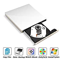 ‏‪External DVD CD Drive, RW Writer/Rewriter/Player USB 3.0 Optical CD Drive Portable High Speed Transfer Compatible Windows Macbook‬‏