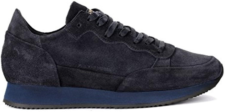 Philippe Model Sneaker Paradis in Veloursleder Blau