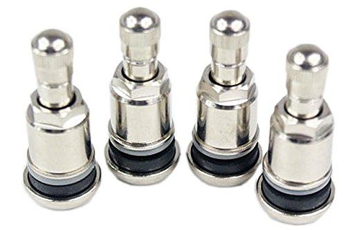 8 Stuc Valve nickelée ms525al en acier pour tous les jantes en alu/métal Valve/laiton/Dimensions standard en UE/Pneu/Jantes/Rims/universel/mousse Heibe/Robinet en plastique/métal/Renforcé/Qualité/lot de 8/capuchon moletée/Joint en caoutchouc/spécialement conçu/pour les fans de tuning/Joint/