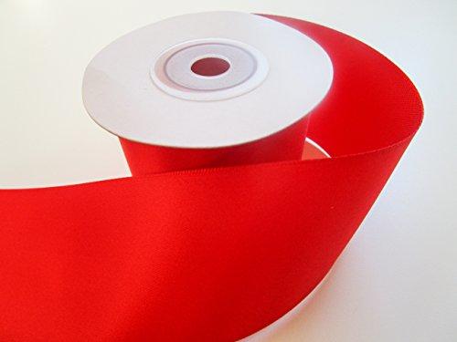 10 m Satin-Schleifenband 50mm breit 5cm Strängchen Geschenkband,Dekoband,Weihnachten (rot)