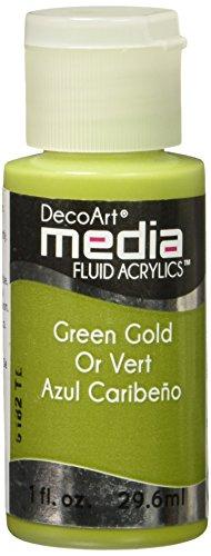 Deco Art grün gold-media Fluid Acryl, Acryl, mehrfarbig