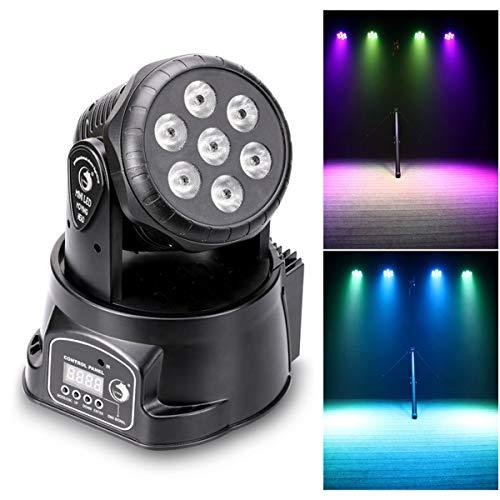 UKing Moving Head Bühne Licht, 7x10 Watt 4 Farbe RGBW LED mit Auto Fernbedienung DMX512 Steuermodus für DJ KTV Disco Party Ballroom Beleuchtung Zeigen (keine Fernbedienung) -