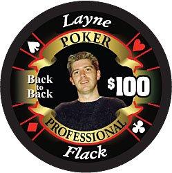 Markenzeichen Layne Flack Limited Edition Poker Chip (schwarz) (Sammler Casino Chips)