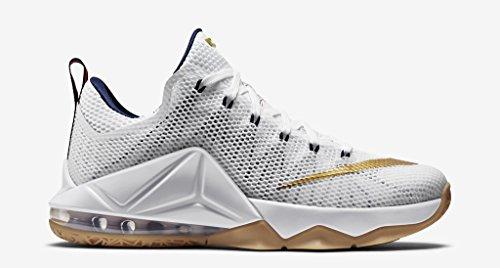 Nike, Sneaker uomo white metallic gold mid navy university 174
