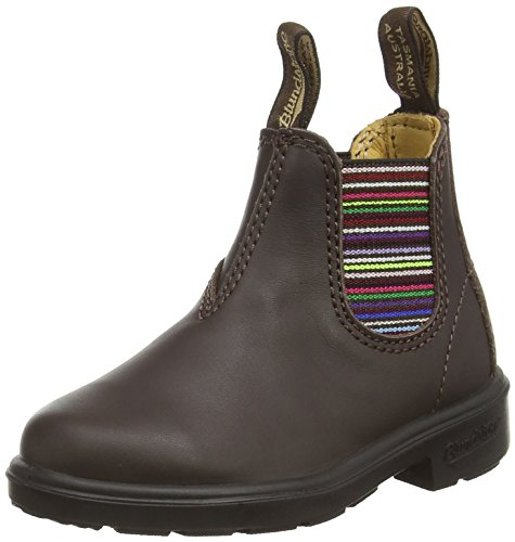 Blundstone Classic, Unisex-Kinder Kurzschaft Stiefel, Braun (Brown/Stripped), 34 EU (3 UK)