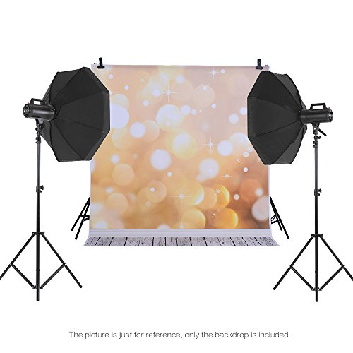 Andoer 1.5 * 2m Photography Background Backdrop Digital Printing Fantasy Light Spot Wooden Floor Pattern for Photo Studio