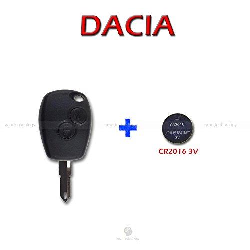 Schale SCHALE + Messer + Batterie für Fernbedienung Schlüssel 2Tasten Dacia Logan Express Duster Sandero