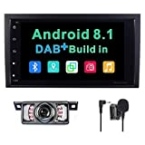 Android 8.1 stereo auto radio DAB + (integrata) Sistema per Audi A4/S4/RS4 navigatore satellitare GPS 20,3 cm supporta Bluetooth controllo del volante touch screen Mirrorlink subwoofer