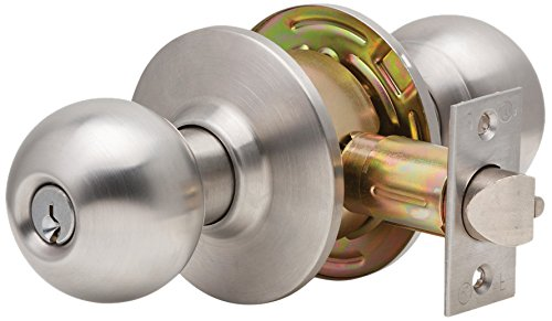Dexter Commercial Hardware C2000-PRIV-B-630 Grade2 Privacy Lock with Ball Knob Trim 630 Satin Stainless Steel 2 3//4 Backset