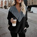 Sweatshirt Chaud Pour Femme, Pull Automne Hiver Moelleux Pour Femmes Hairy À Capuche Sweat De Mode Casual LâChe Manche Longue Tricot Hauts Tunique Pullover Ample ÉLéGant Chic Top Pull Sweater Simple
