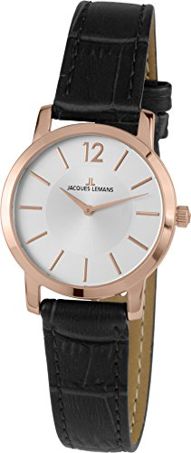 Jacques Lemans Women's Analogue Watch with Metallic Dial Analogue