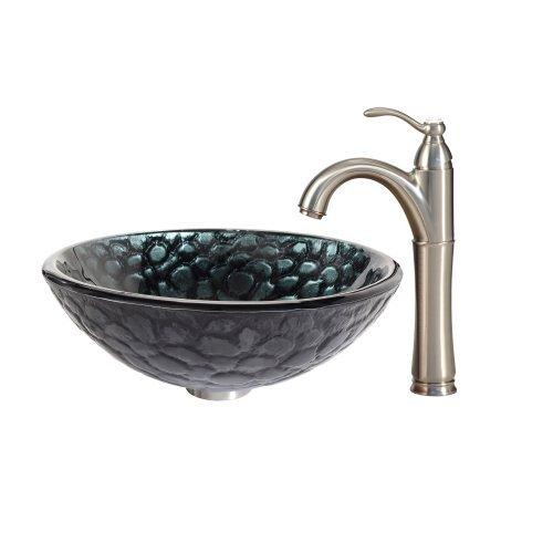 Preisvergleich Produktbild Kraus GV-396-19mm Dryad Glass Vessel Bathroom Sink by Kraus