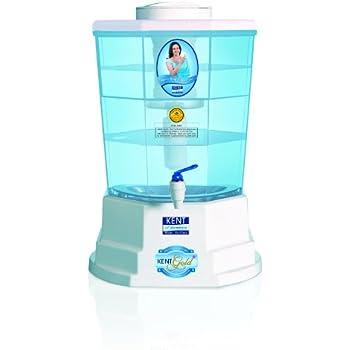 Kent Gold+ 20-Litre Gravity Based Water Purifier (Aqua Blue)