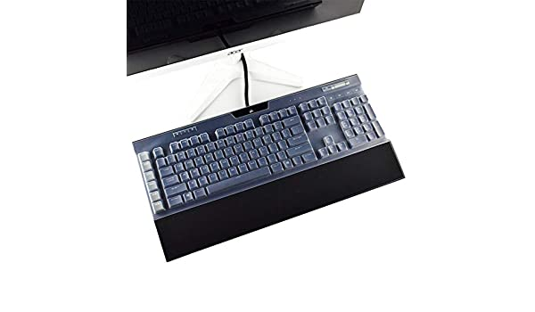 kwmobile Keyboard Cover Compatible with Logitech G613 Wireless Protective Skin Computer Keyboard Dust Cover Case Dark Grey