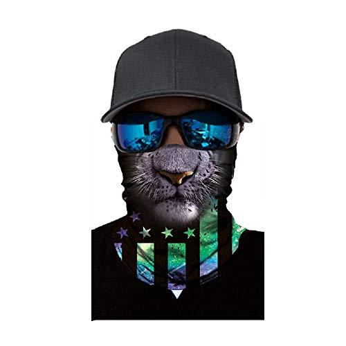 NINGSANJIN Face Shield Sturmhaube ,viele verschiedene Designs* Multiunktionstuch Maske Fishing Totenkopf Schal Skull Bandana Gesichtsmaske Halstuch Ski Motorrad Paintball Face Shields Maske (P)