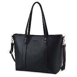 Bageek Handtasche Damen Shopper Handtasche Schwarz Damentaschen Groß Designer Taschen PU Leder Handtasche