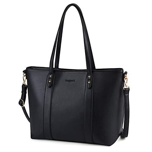 che Shopper Handtasche Schwarz Elegant Schwarze Groß Damen Tasche Umhängetasche Shopper Tote Henkeltasche (Schwarz) ()