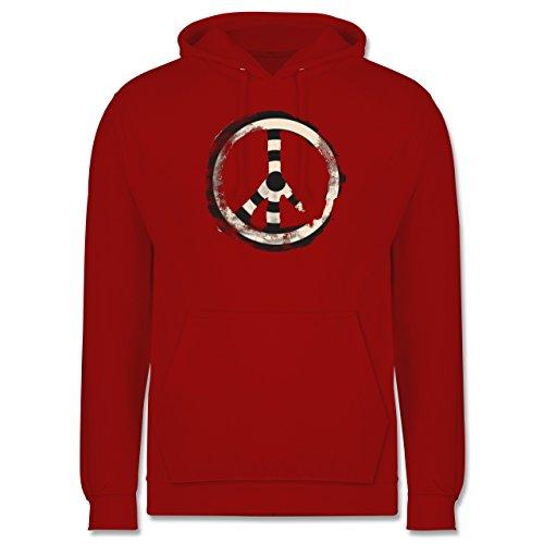 Statement Shirts - Zielscheibe Frieden - target peace - Männer Premium Kapuzenpullover / Hoodie Rot