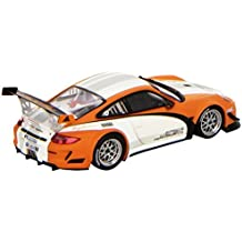 Porsche 911 GT3R Hybrid Presentation (2010) in White and Orange (1:43 scale) Diecast Model Car by Minichamps