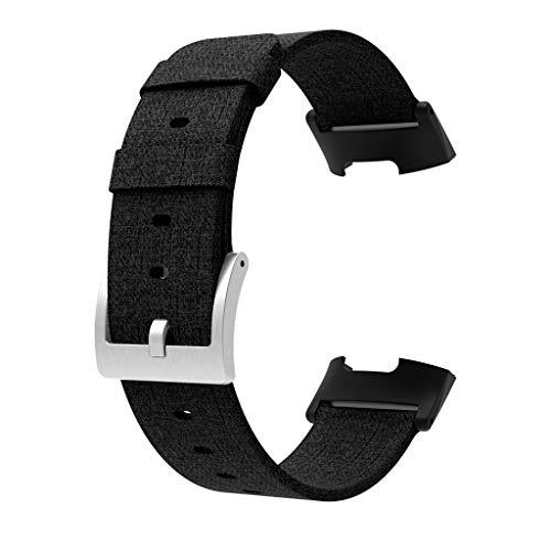 Yallylunn Gummikopf Gewebt Leinwand Strap Atmungsaktiv Bequeme Schmutzige Mode Armband FüR Fitbit Charge
