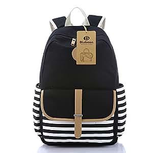 BLUBOON(TM) School Style Leisure Backpacks Vintage Floral Print School Backpacks for Girls for Teens Students Women Ladies Girls