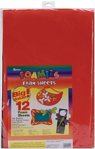 Darice Foam Sheets 12-inch x 18-inch -Basic Colors