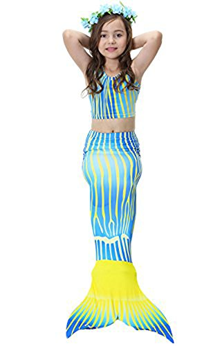 Multicolores Gilet de bain style tankini Bikini Maillots de bain Bathing Suit Combinaison de plongée pour Costume Sirène Maillot de bain pour fille Maillot de bain Short - -
