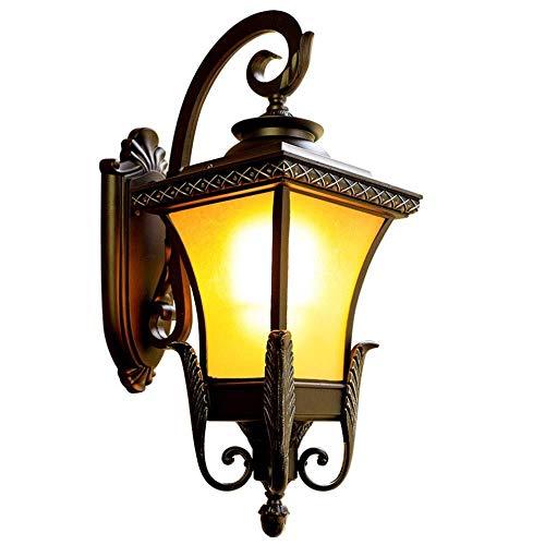 LQRYJDZ Retro Außenwandleuchten, wasserdichtes Licht Porch Light Fixture, Rustikal Glasschirm, industrieller Stil Außenwandleuchte Licht for Front Porch, Garage, Garten, E27 Lampenfassung -