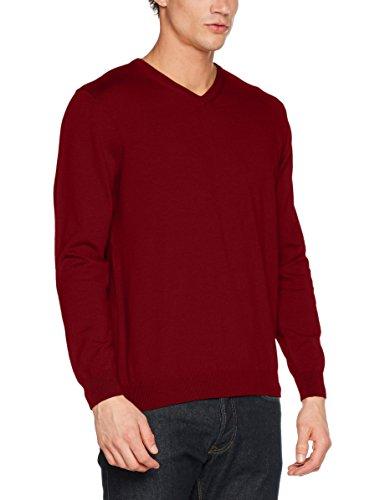 Pierre Cardin Herren Pullover Knit V-Ausschnitt Rot (Crimson 5001)