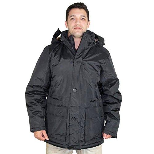 Canada Weather Gear da uomo in piumino d' oca Parka Cappotto Black X-Large