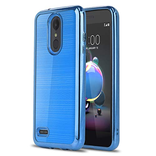 Phone Case for [LG Rebel 4 LTE (L212VL, L211BL)], [Chrome Series][Blue]  Shockproof Soft TPU [Electroplated Bumper] Cover for LG Rebel 4 (Tracfone,
