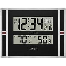 La Crosse Technology 513-149 11 inch Atomic digital wall clock with temperature by La Crosse Technology