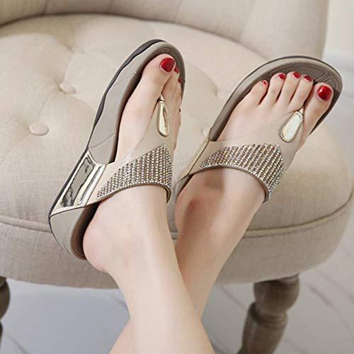 Zapatos flip-flop Sandalias planas Sandalias de verano de moda Zapatos