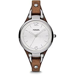 Fossil Georgia Analog Silver Dial Women's Watch - ES3060