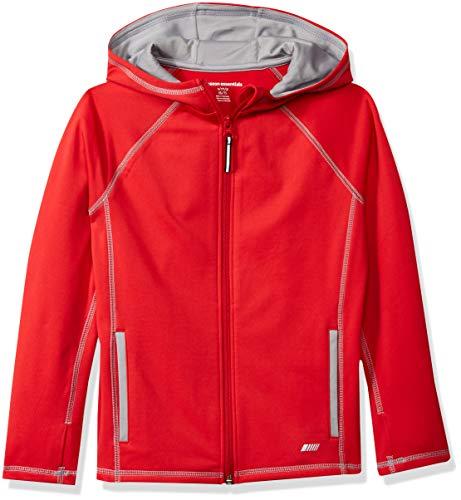 Amazon Essentials - Chaqueta deportiva con cremallera completa para niño, Rojo, US 4T EU 104-110