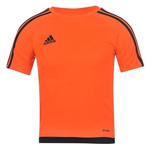 adidas Kids 3 Stripe Estro T Shirt Junior Boys Short Sleeved Tee Top