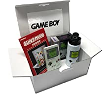 Nintendo® GameBoy Retro – Geschenkbox | Super Mario Gagdet Sticker, Notizbuch, Trinkflasche, Spardose im Game Boy Classic Look