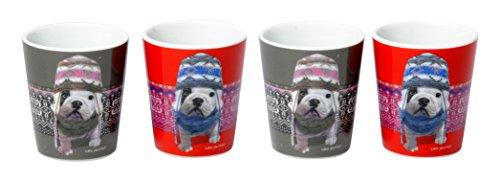 Teo Jasmin TEOZ9070 Set de 4 Gobelets à Café, Céramique, Montagne, 23 x 6,5 x 7,5 cm