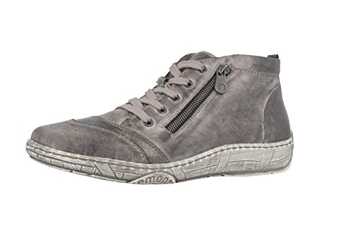 Remonte D3870, Sneakers Hautes Femme Gris (Negro/altsilber/asphalt / 02)