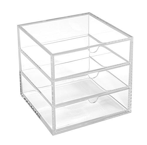 Osco–Papelera cubo de 16,5cm, acrílico), transparente