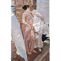 Toperfect €50-€2000 Pintura al óleo a Mano - Pintor de Bata Rosa