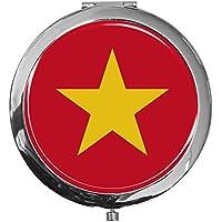 """metALUm - Extragroße Pillendose in runder Form""""Flagge Vietnam"""" preisvergleich bei billige-tabletten.eu"""